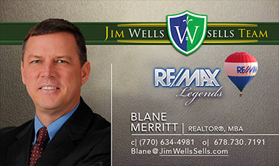 Blane Merritt - Business Card -Jim Wells Sells Team