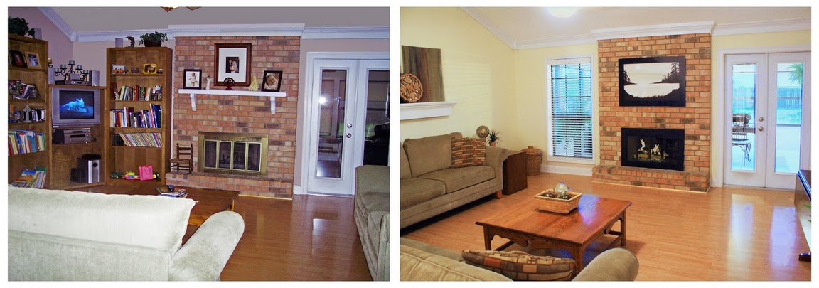 Staging before and after