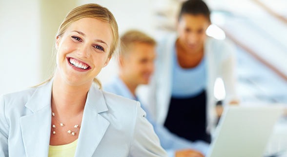 Image of Friendly, Smiling Female Real Estate Agent