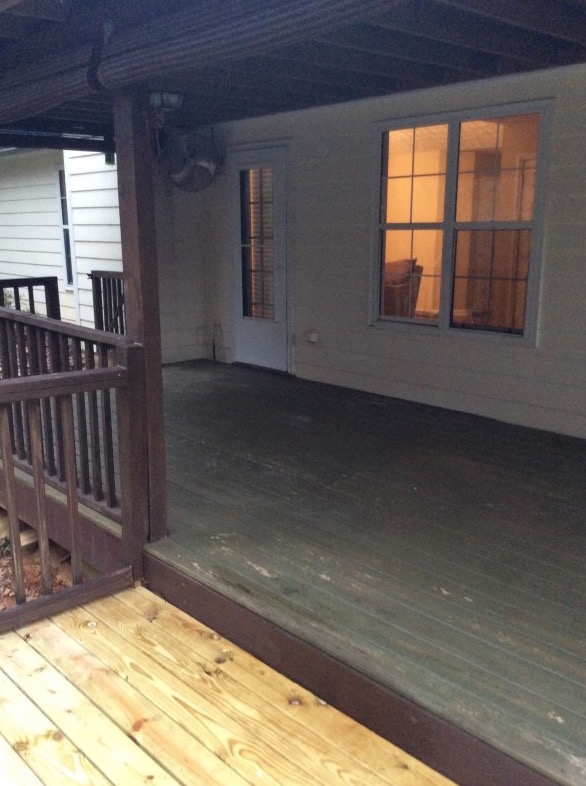 Deck Before STaging