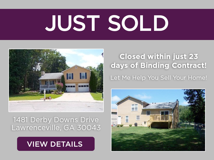 Just Sold Flyer - 1481 Derby Downs Drive