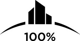 100 percent club logo