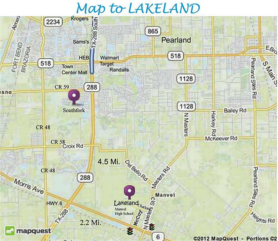 Map to Lakeland