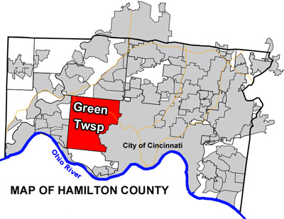 Map of Greet Township within Hamilton County