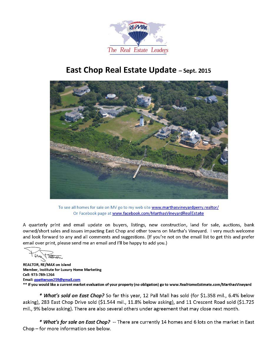 September Real Estate Update page 1