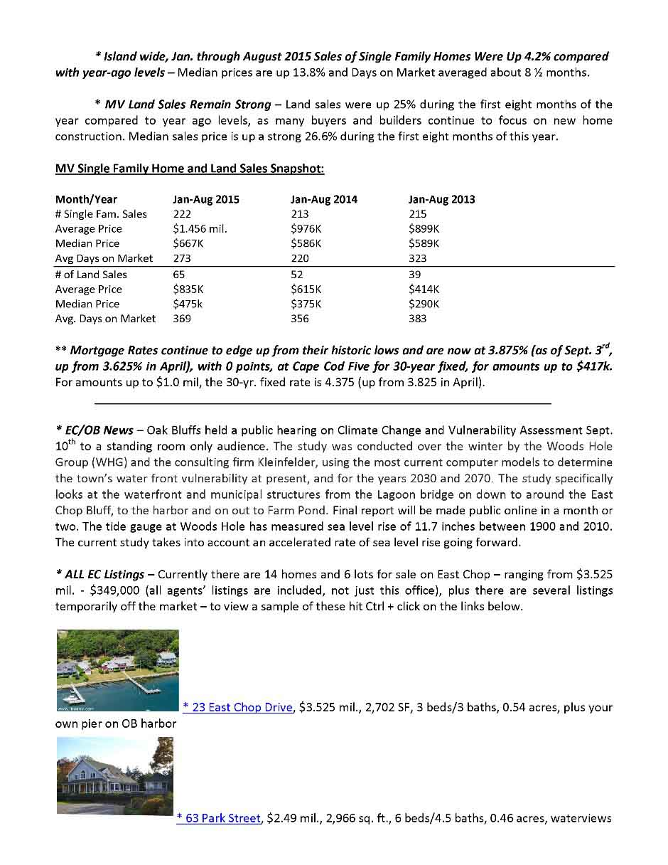 September Real Estate Update page 2