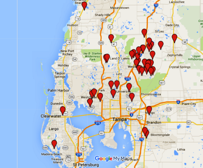 Sales in the Tampa Bay Area