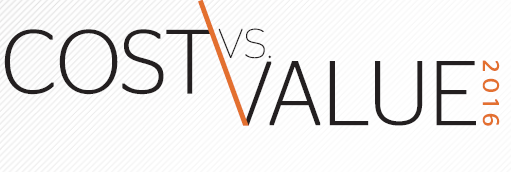 Click here for Cost VS Value 2016