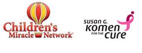 Children's Miracle Networttp://net2.rek and Susan G. Komen For the Cure