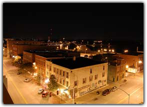 Davenport at Night