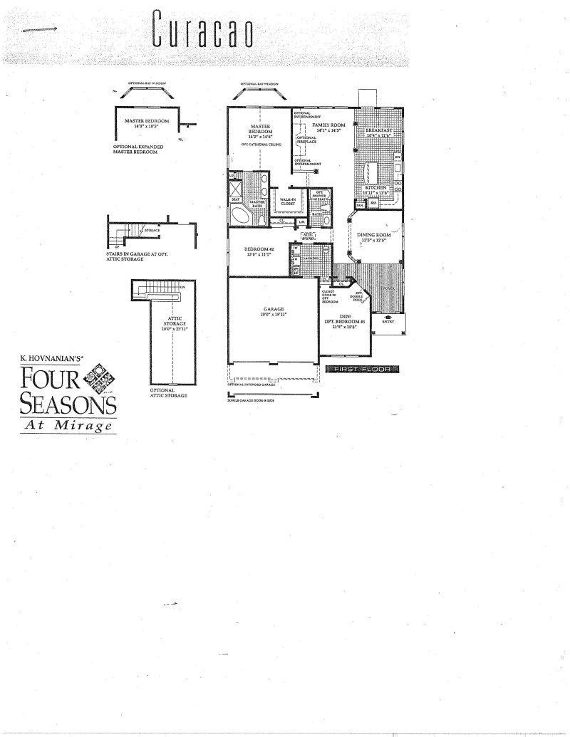 Curacao Floor Plan – Four Seasons Housing Floor Plans