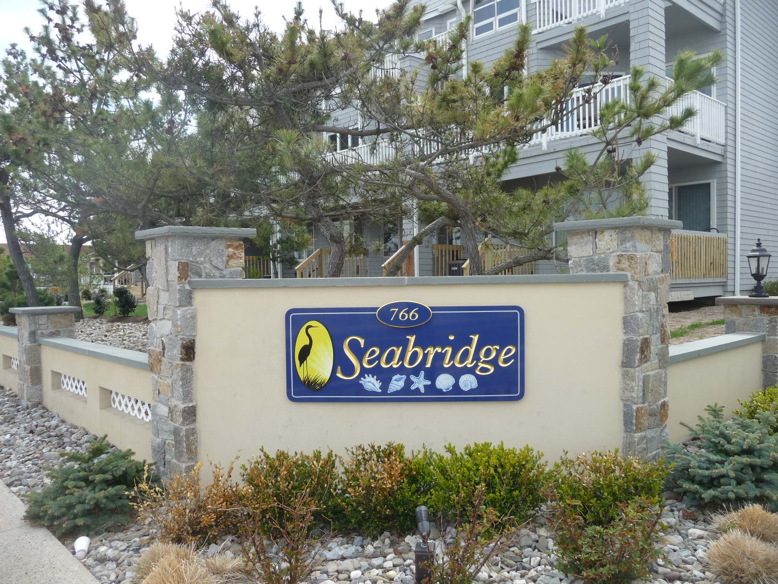 Seabridge condos, located at 766 Ocean Ave in Sea Bright are on the Shrewsbury River