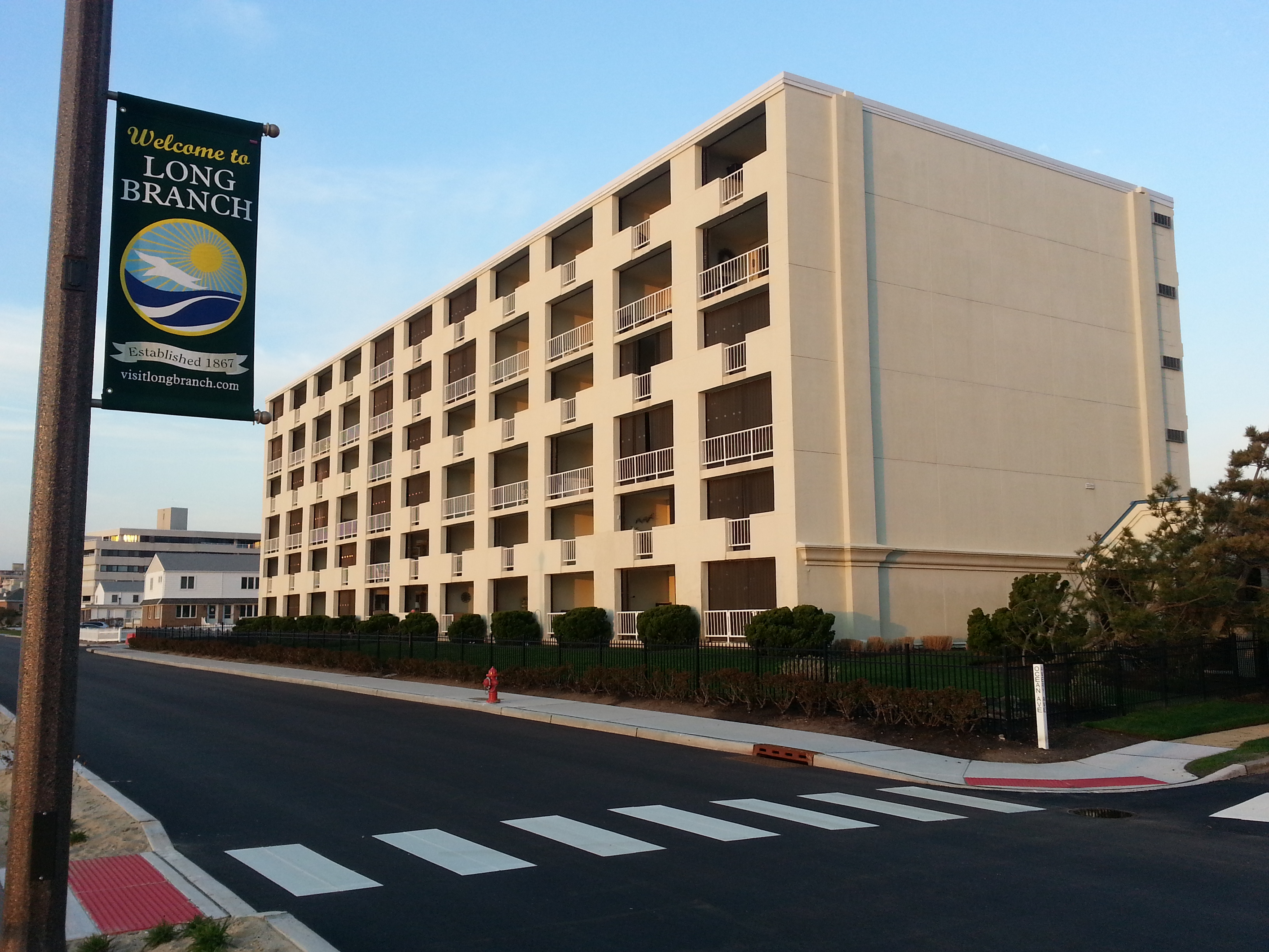 Ocean View Towers, located at 510 Ocean Ave, is right on the boardwalk in the West End Long Branch.