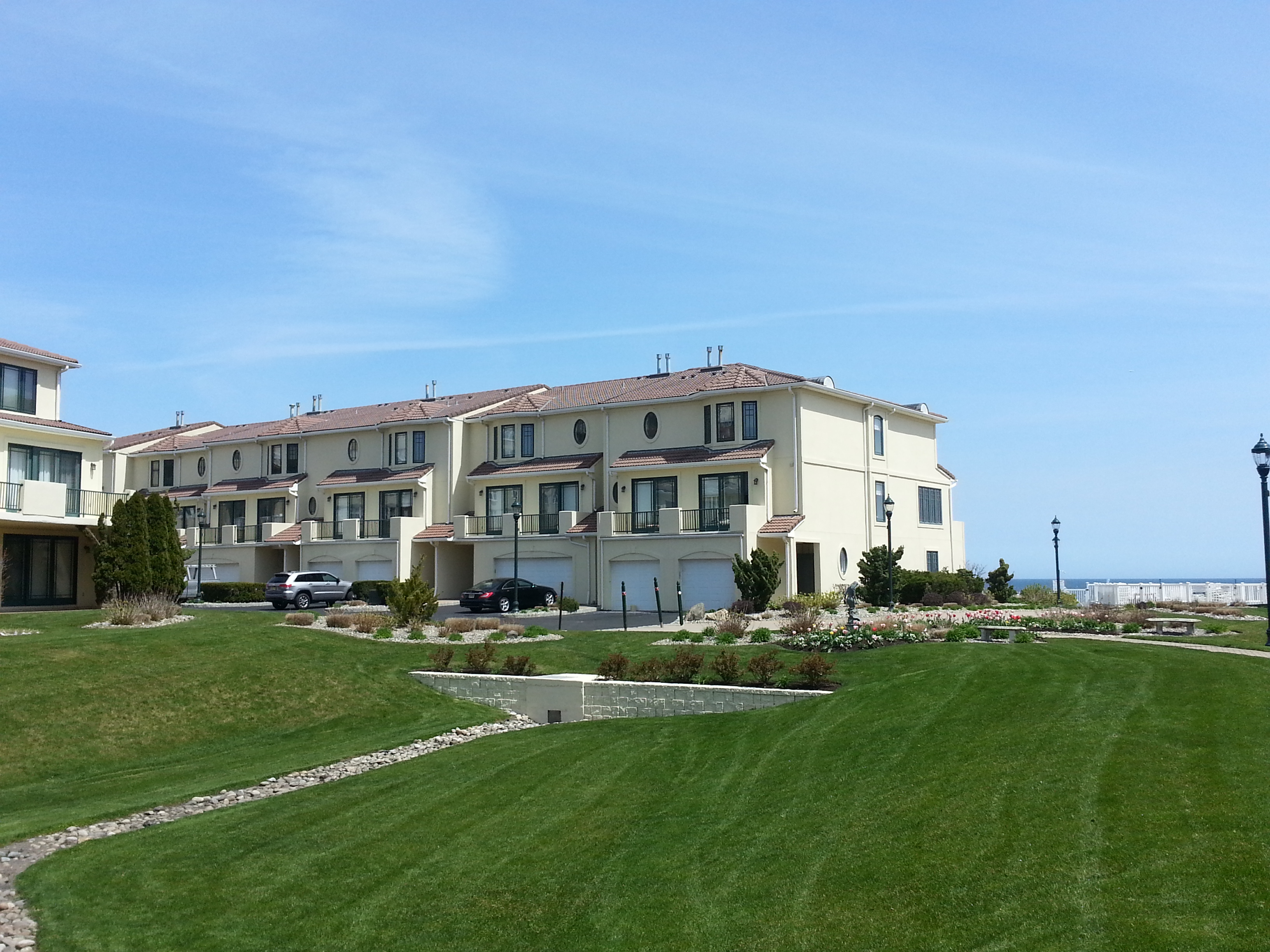The Villas at Harbour Island is a beachfront community of upscale condos in West End Long Branch