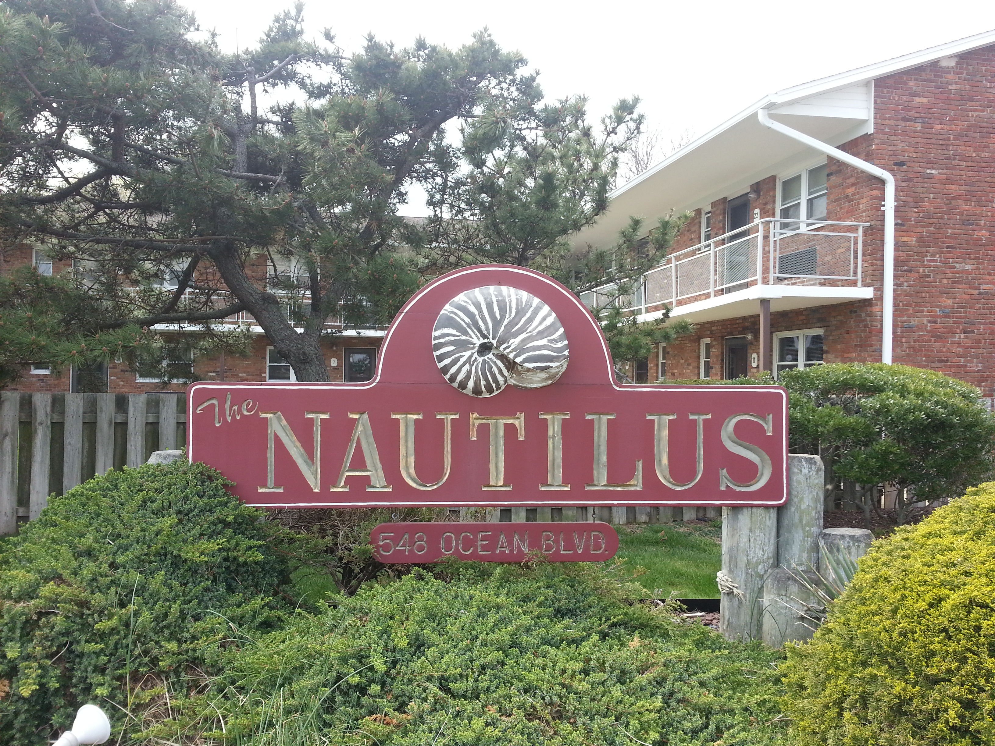 The Nautilus condos are located at 548 Ocean Blvd, one block from the each in West End Long Branch