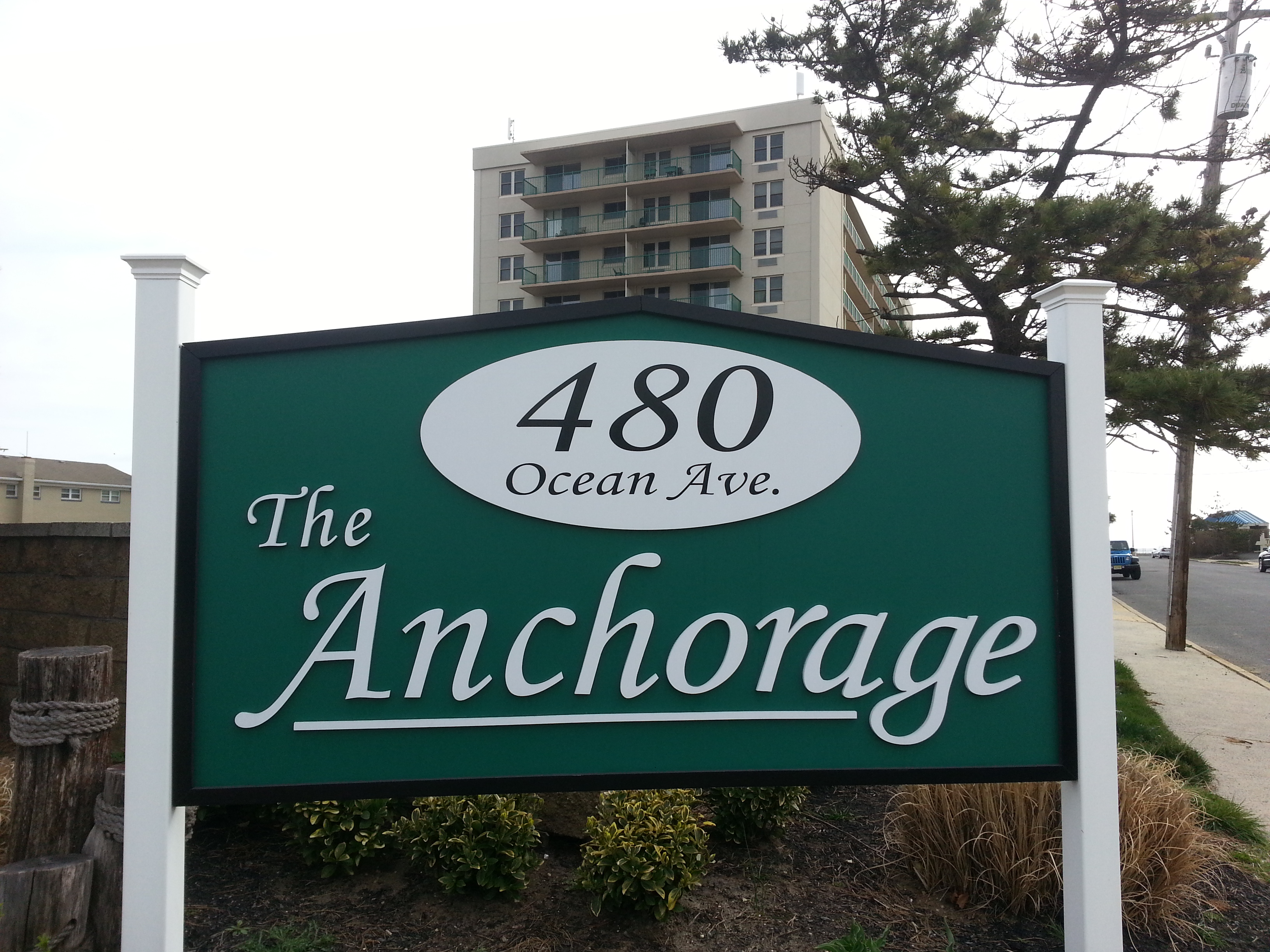 The Anchorage condominium is located on the Long Branch boardwalk in the West End section of town.