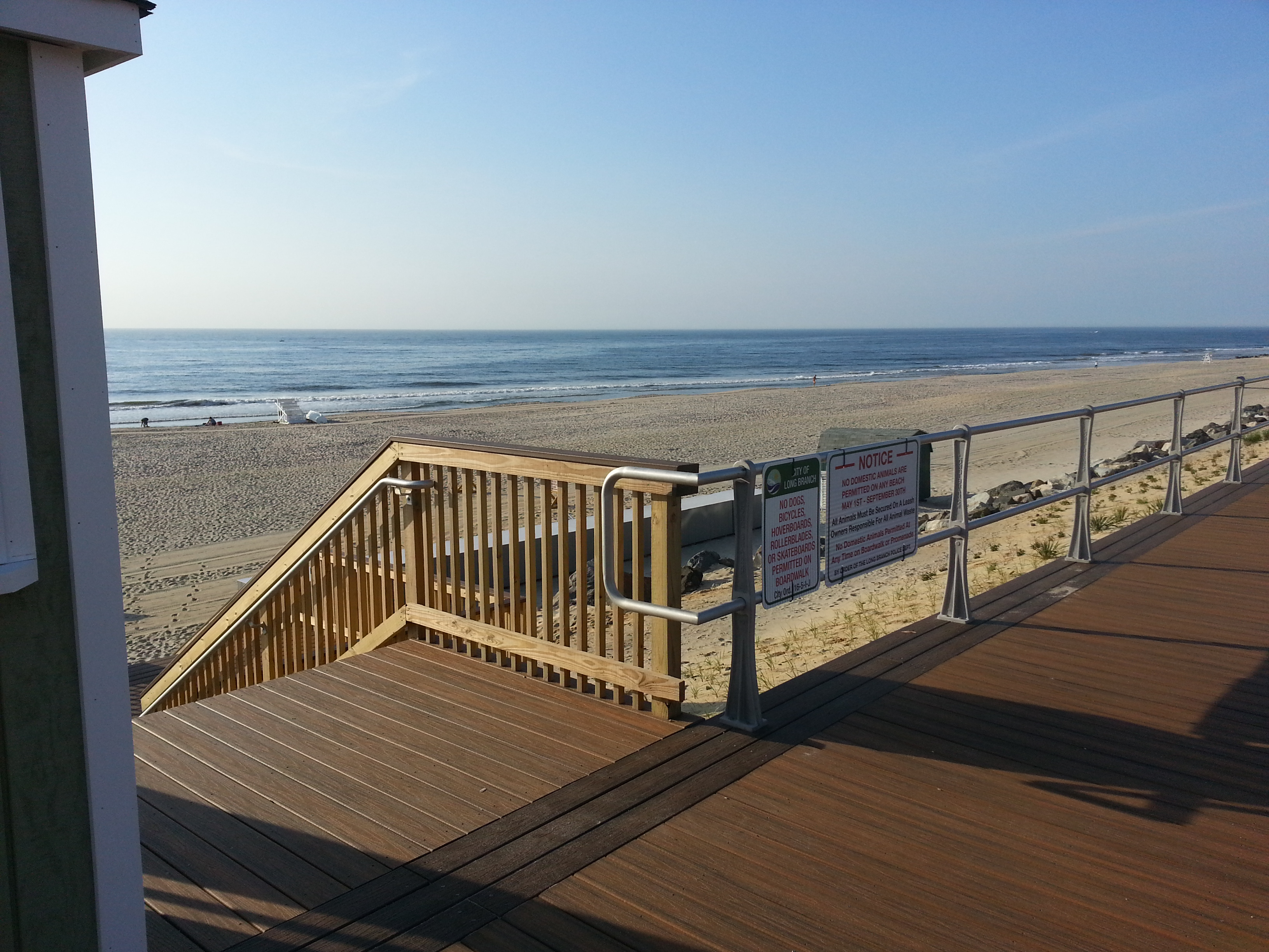 At the southeast corner of the property is this access to the Long Branch beach.
