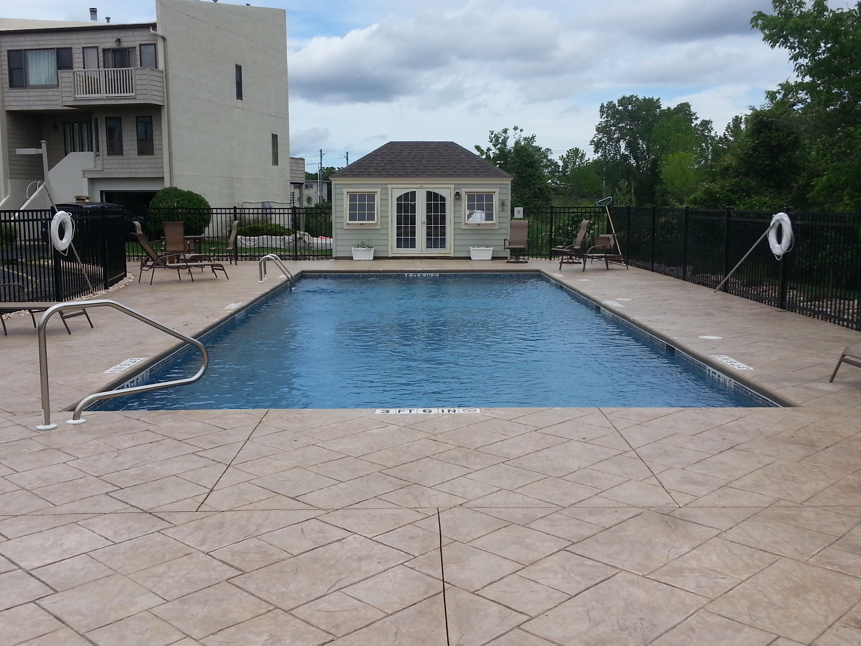 Among the amenties at Bridgewaters Townhouses is a community pool.