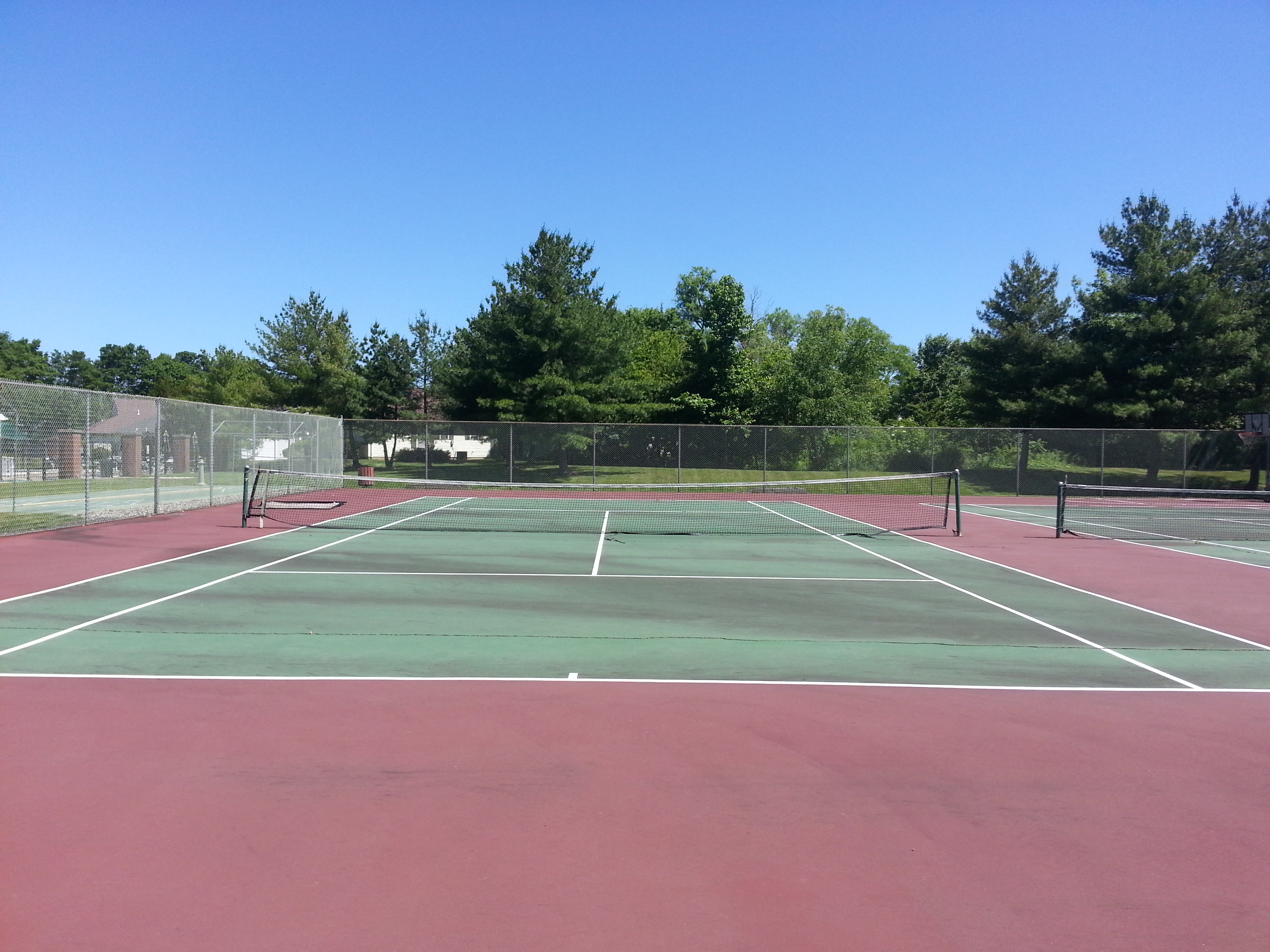 In addition to a pool, bocce and shuffleboard, Surrey Downs also has two tennis courts.