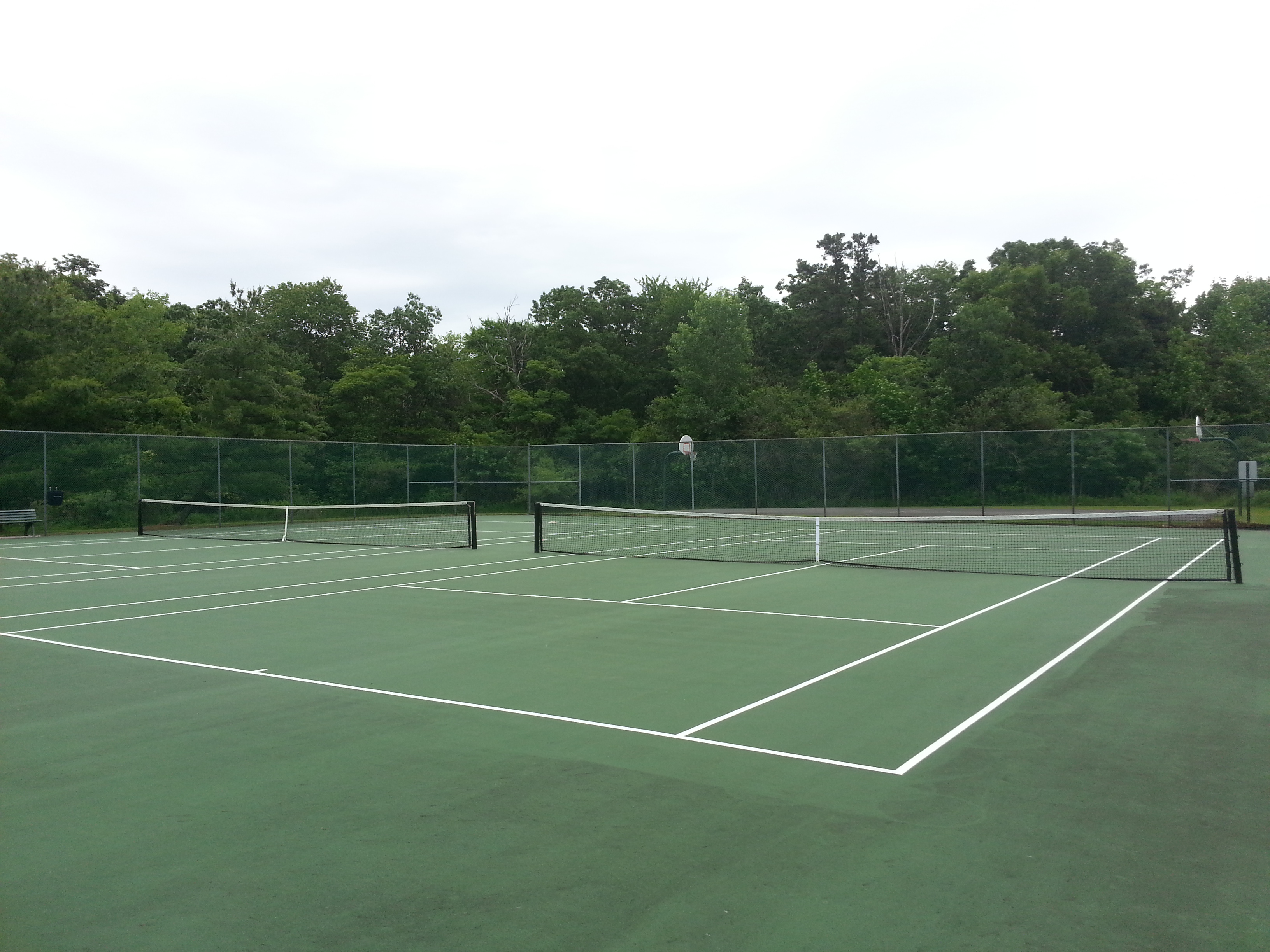 Hidden Meadows has two tennis courts located next to the pool area.