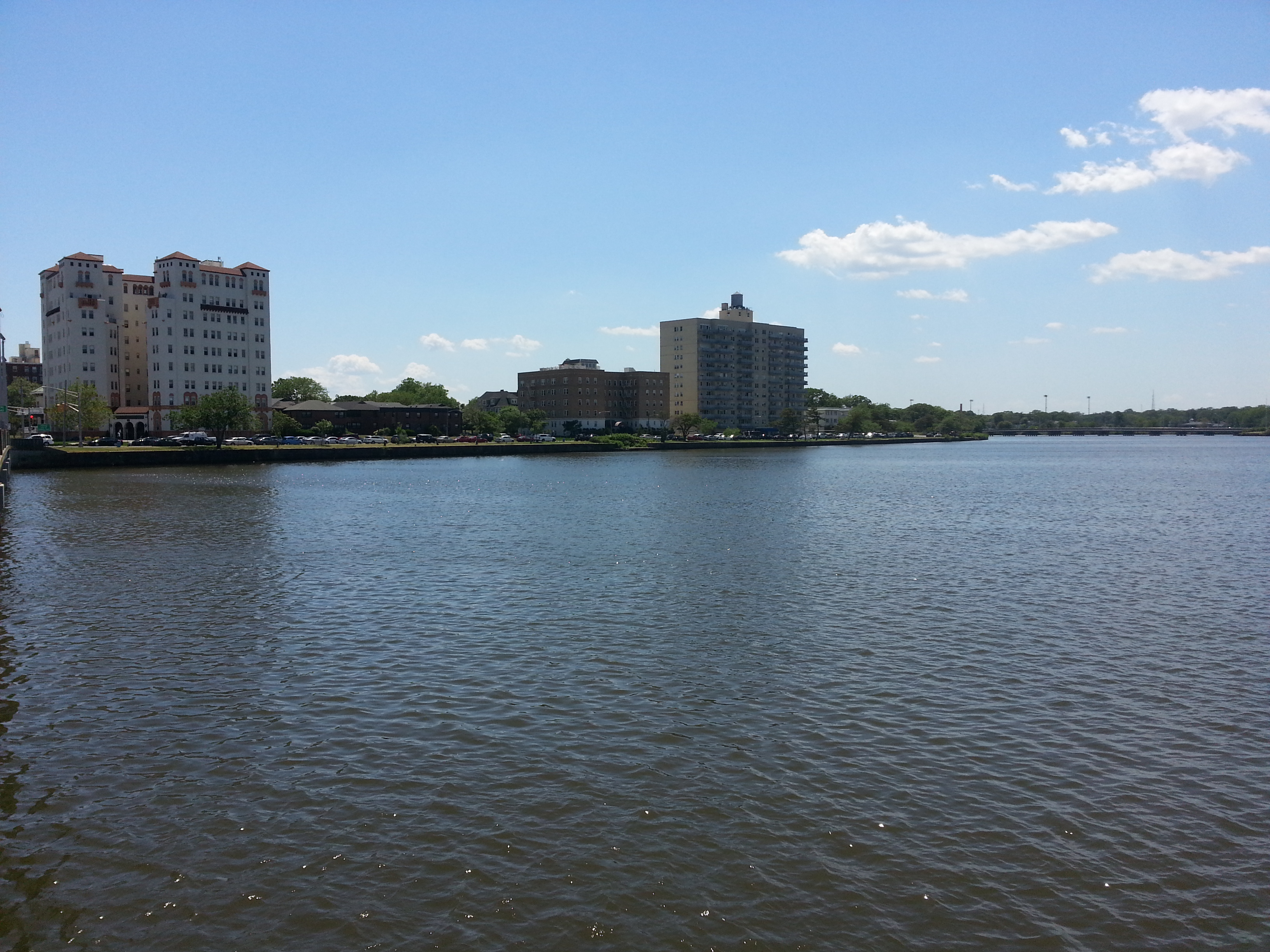 The Santander, here in the upper left, is right on Deal Lake and 2 blocks to the beach.