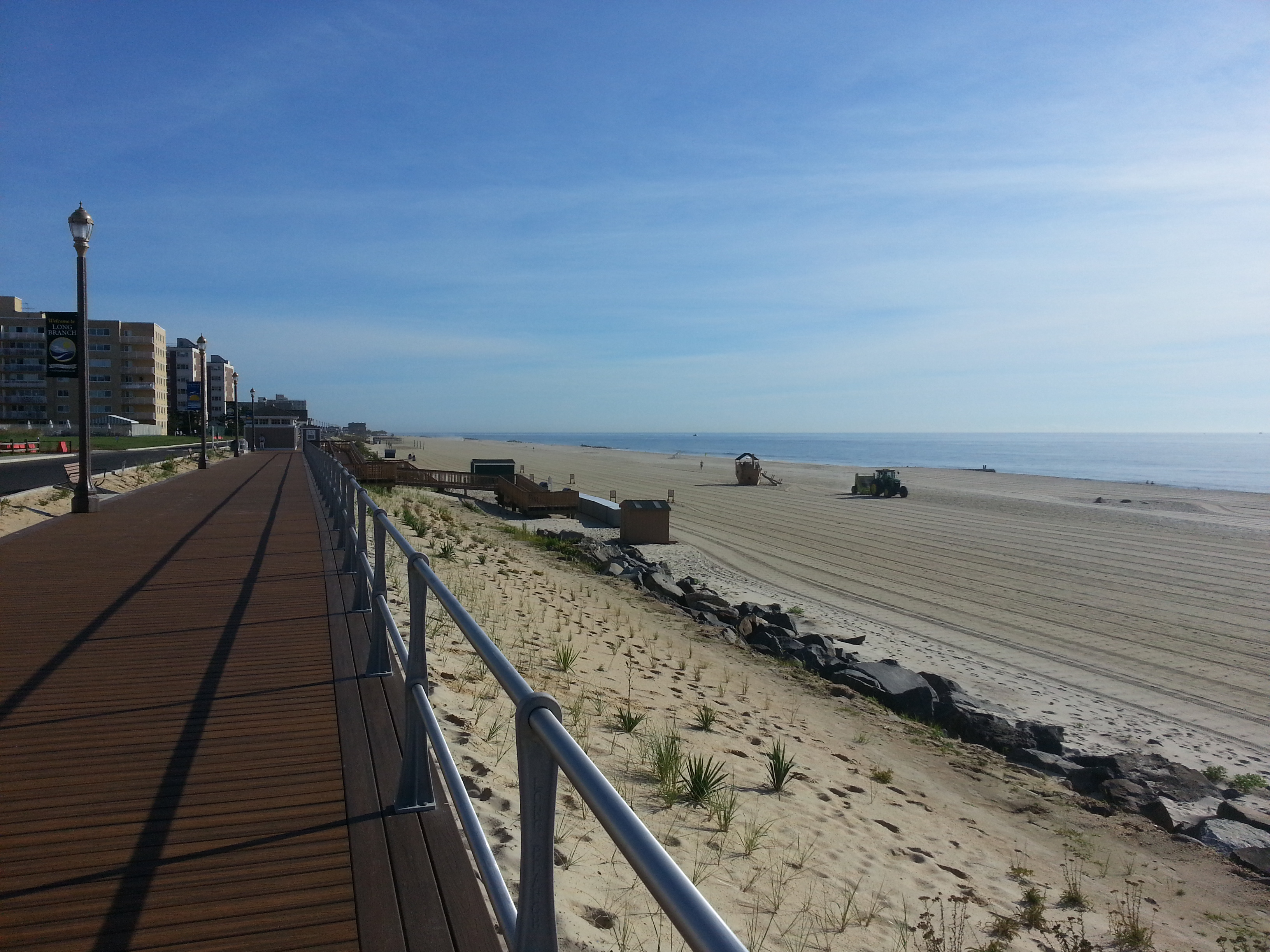 The rebuilt boardwalk and beach access are less that a block from the Sandpebble.