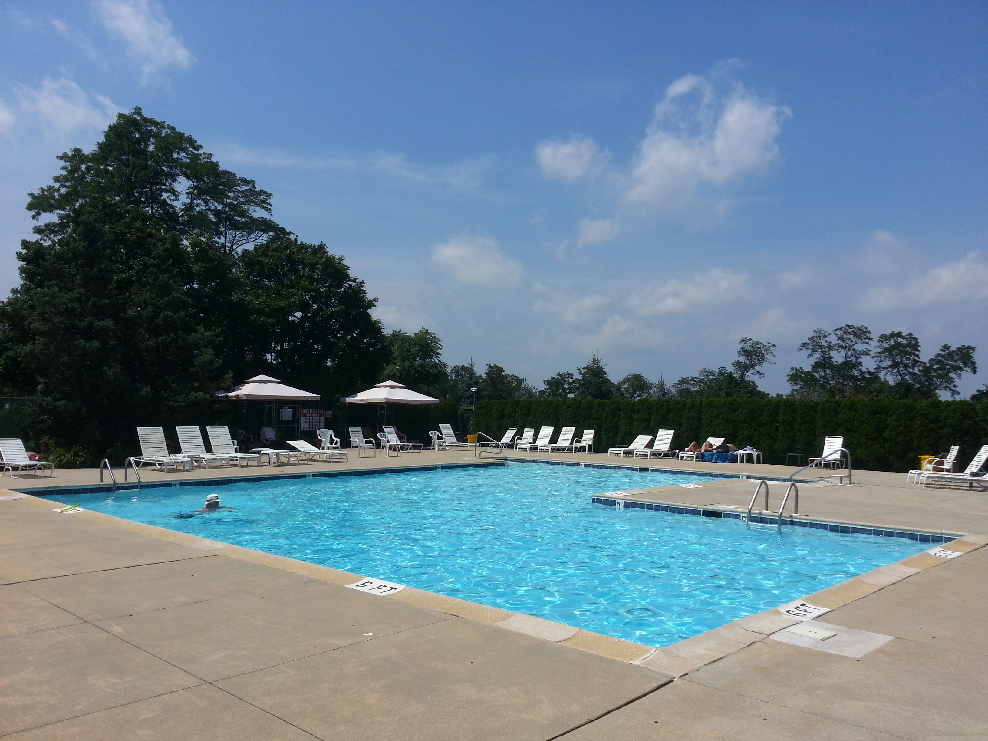 Located in the center of the community, this sparkling pool is one of the amenities at Tower Hill.