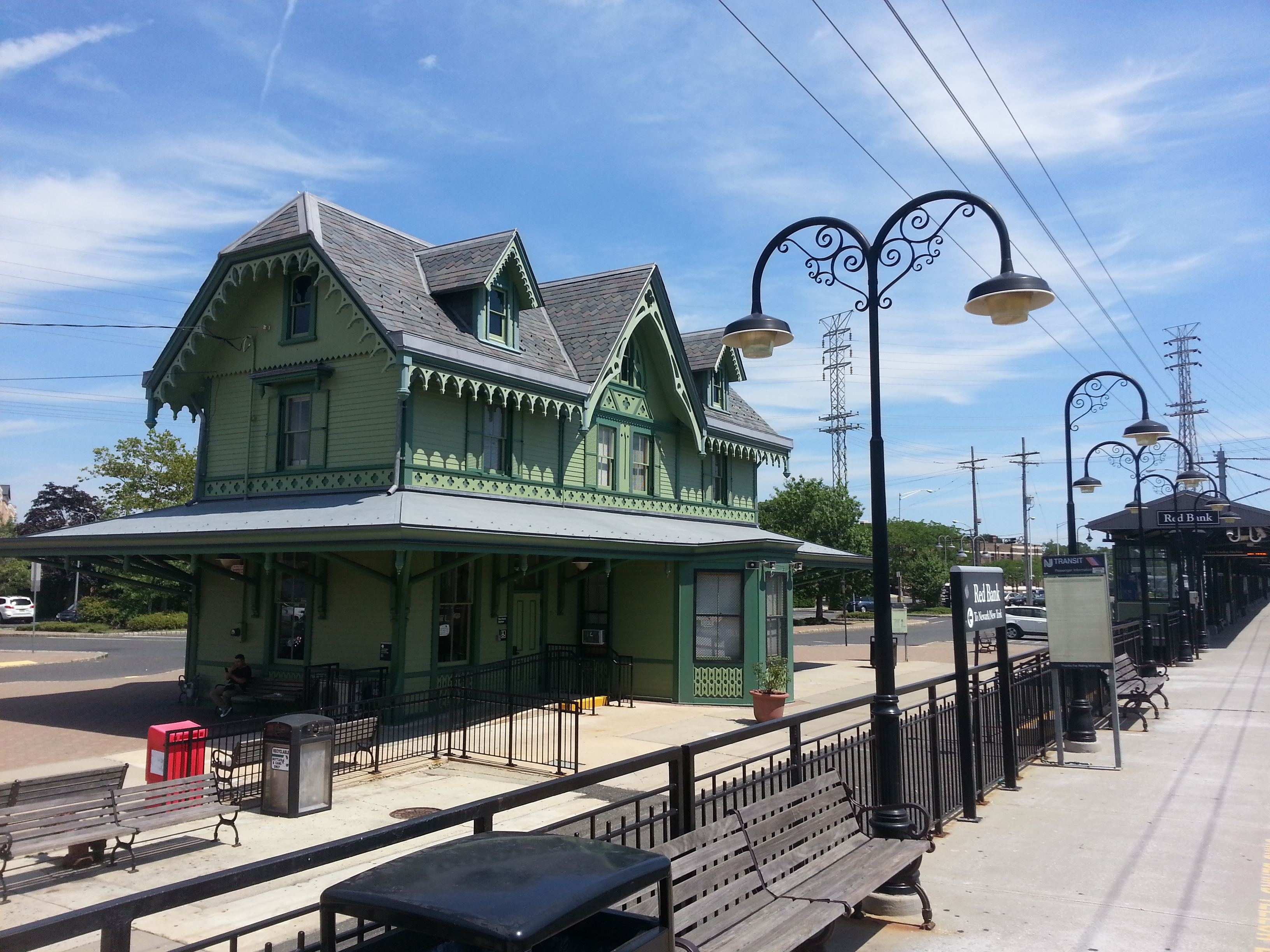The Red Bank train station, pictured here, is less than a half mile from Corinthian Cove.