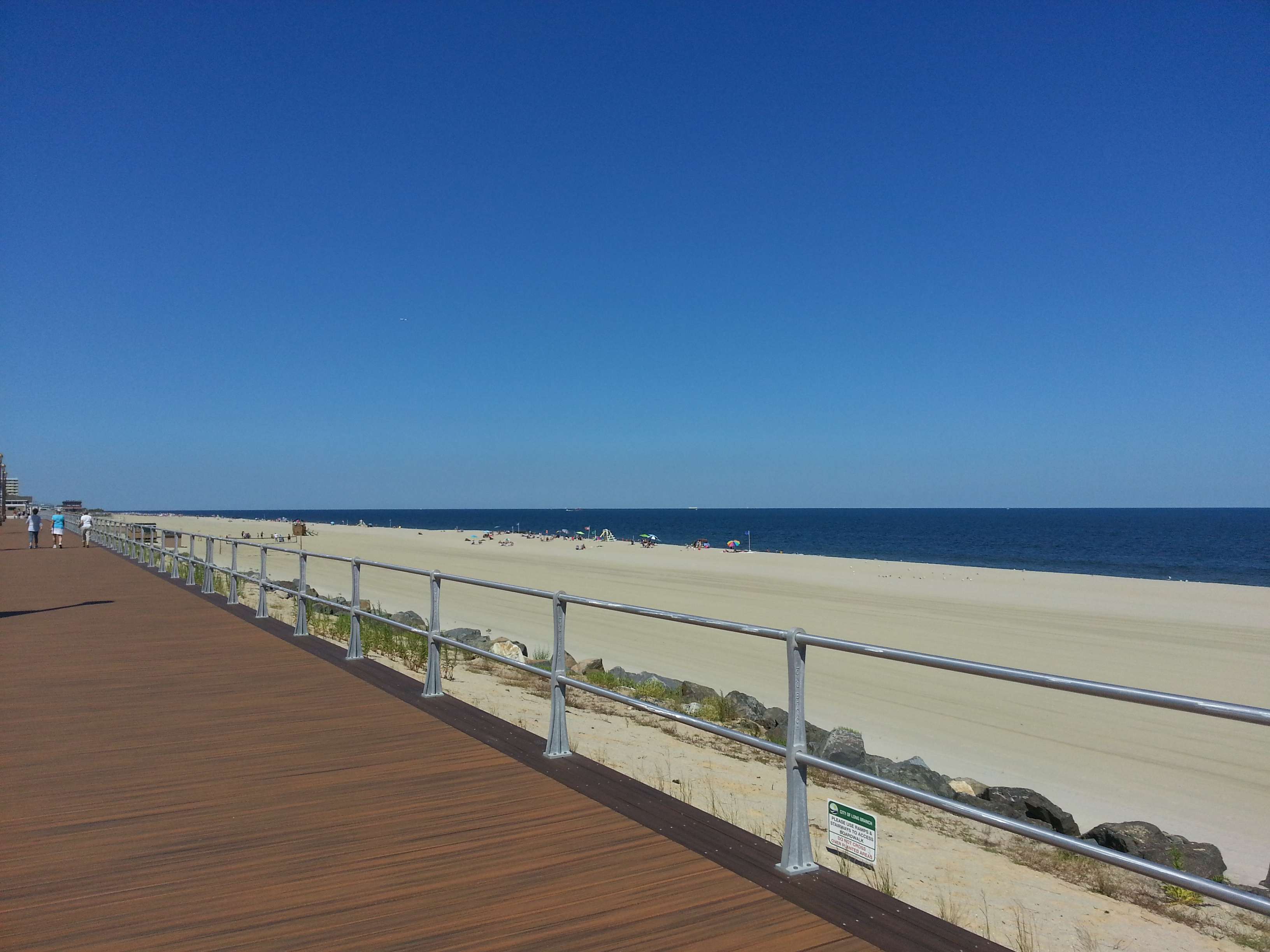 Directly behind the Anchorage is the the Long Branch boardwalk and beach, pictured here.
