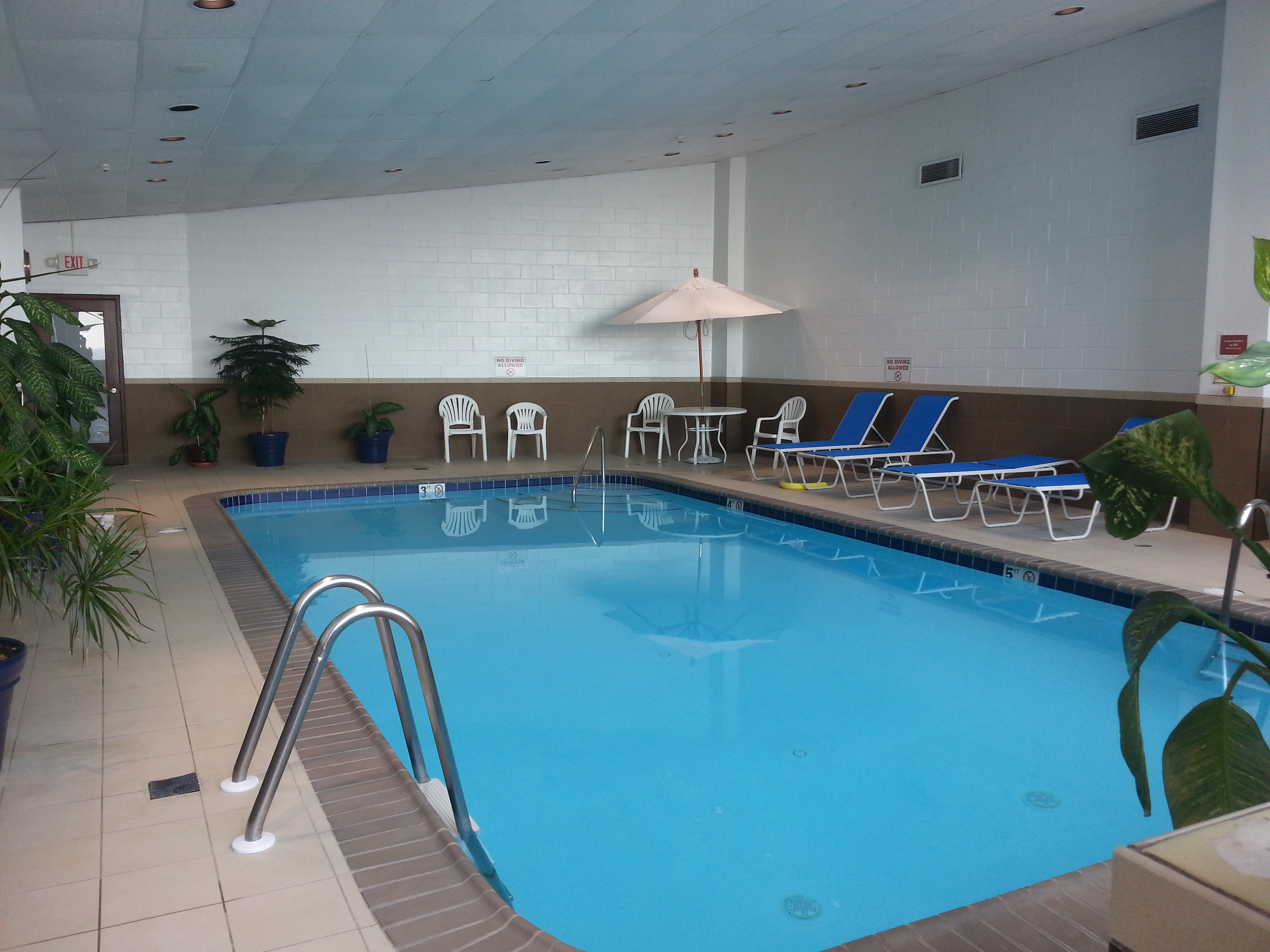 The Shores is just one of two beachfront condos with an indoor pool, pictured here.
