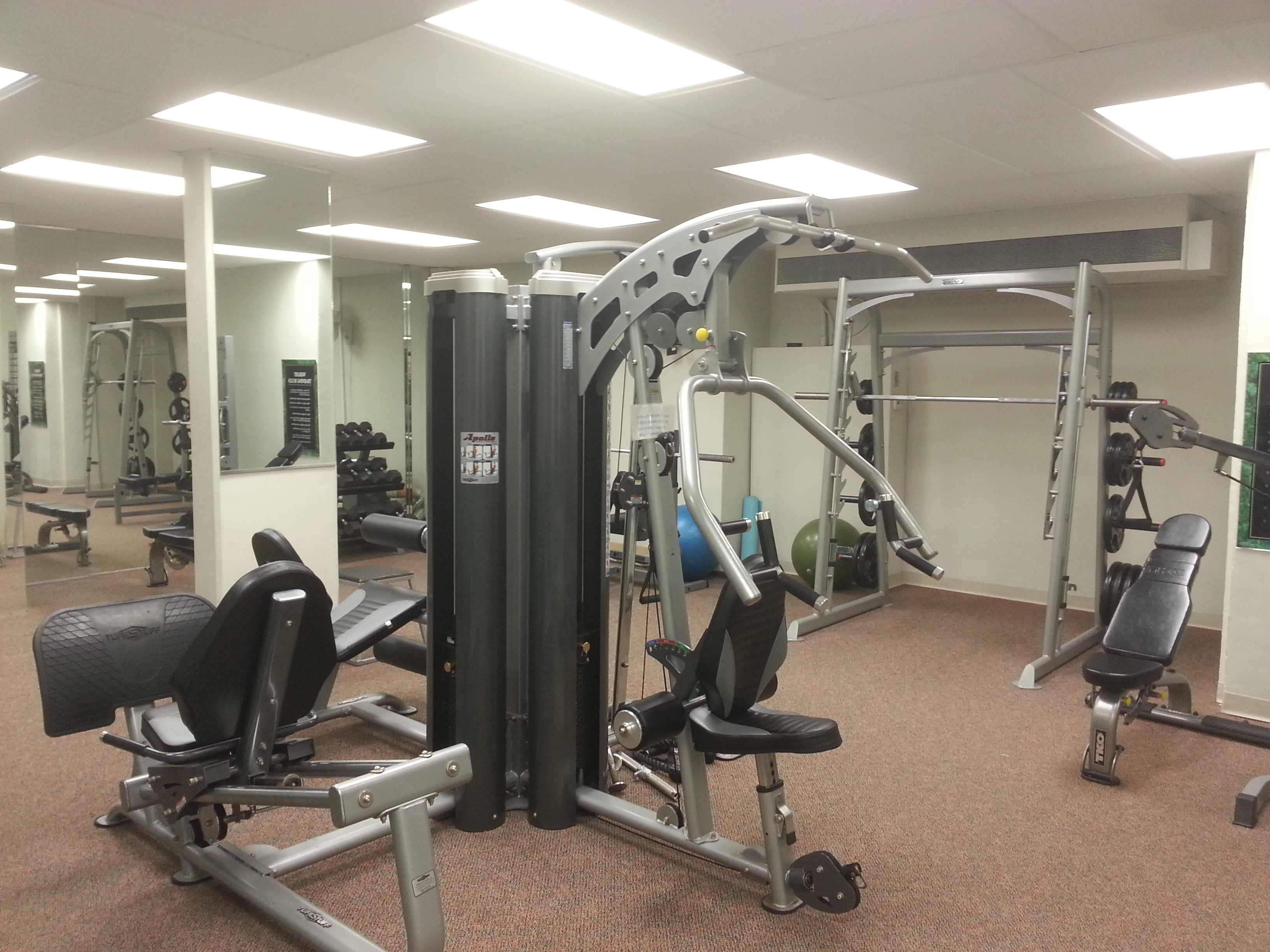 In addition to the fitness room pictured here, Eastpointe also has a cardio room.