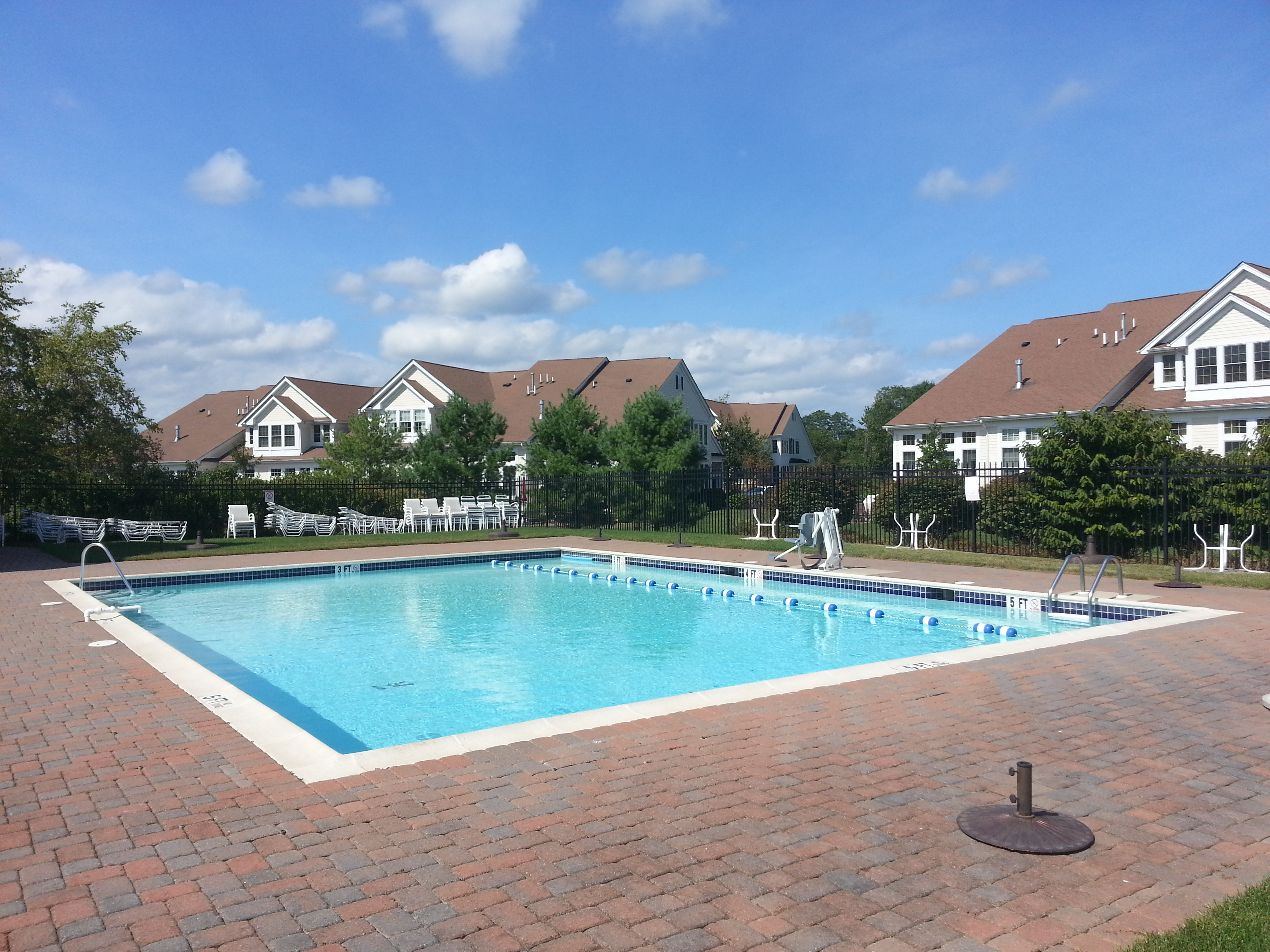 Among the Greenbriar Falls amenities is this pool located next to the clubhouse.