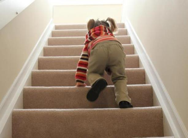 Stairs, Child Climbing