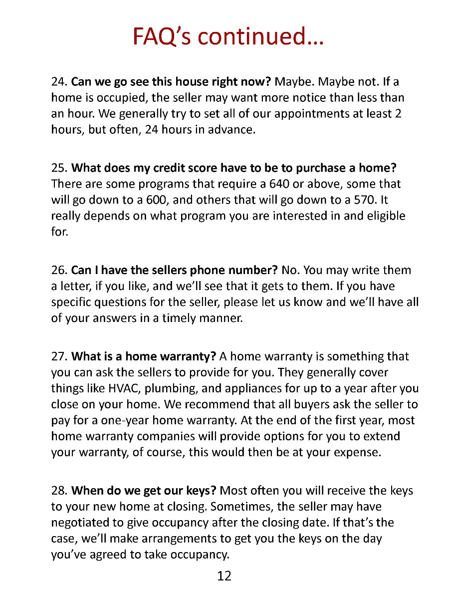 Our Home Buyers Guide