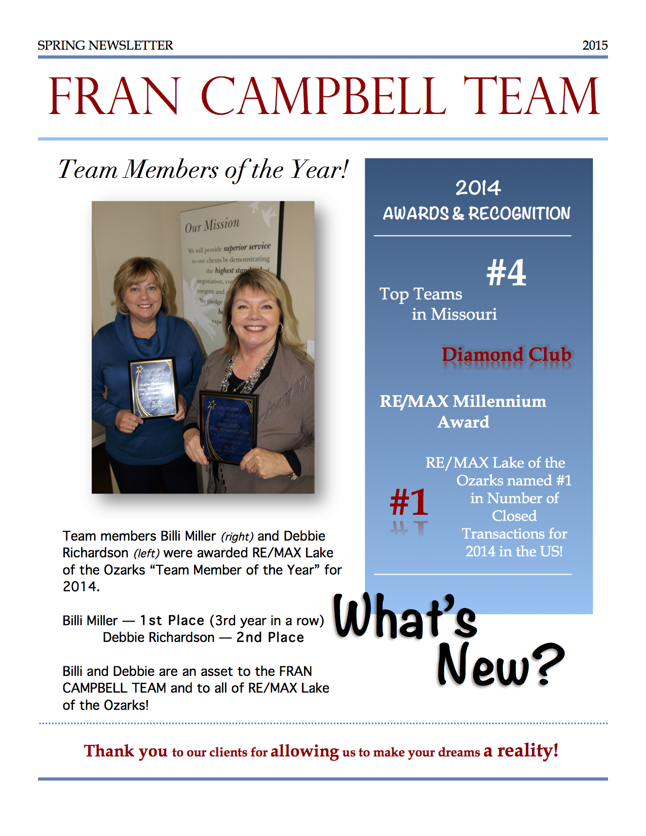 FCT 2015 Spring Newsletter