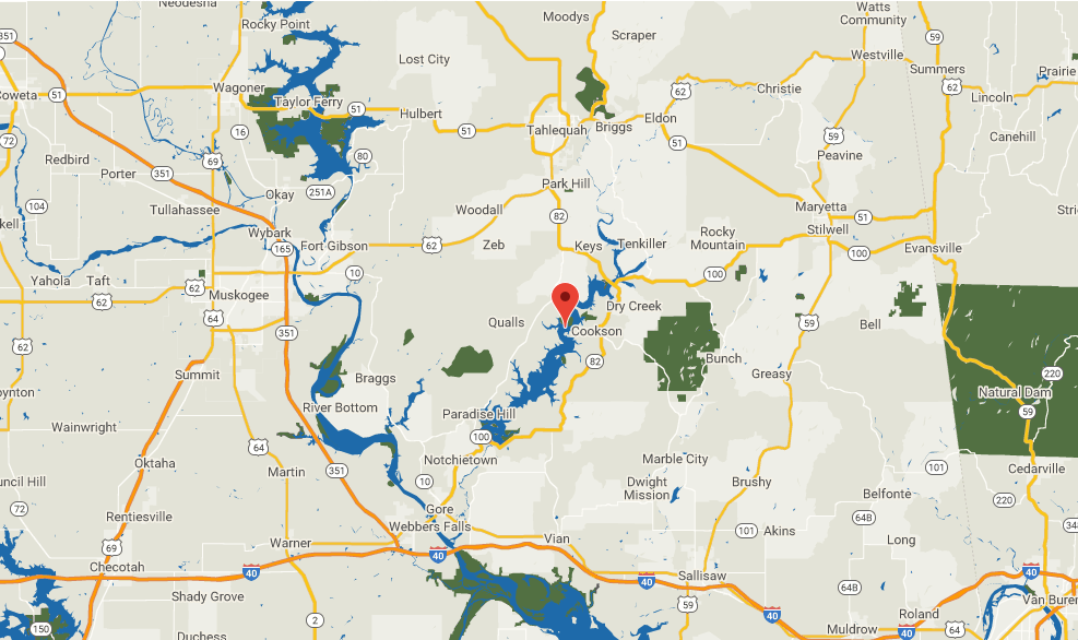 Lake Tenkiller Map