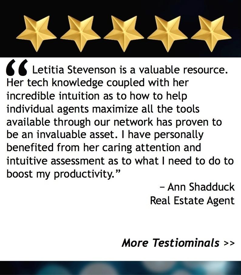 Testimonials - Letitia Stevenson