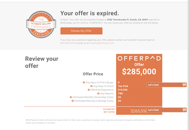 Offerpad | A Fair Selling Experience? Reviews, 7% Offer pad