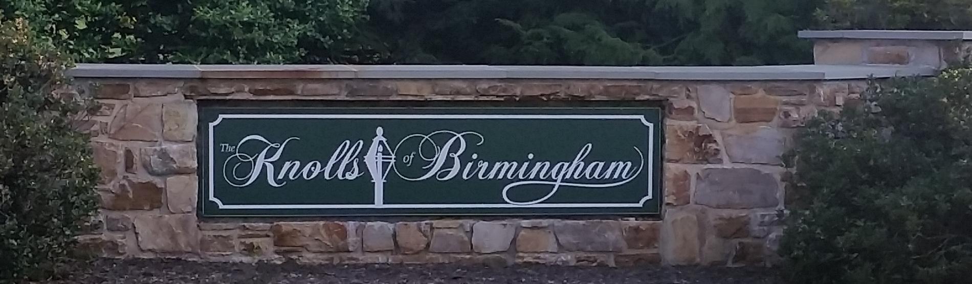 Knolls of Birmingham Community Entrance Sign.