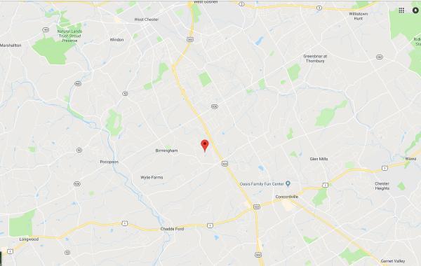Google map of location of The Knolls of Birmingham community.