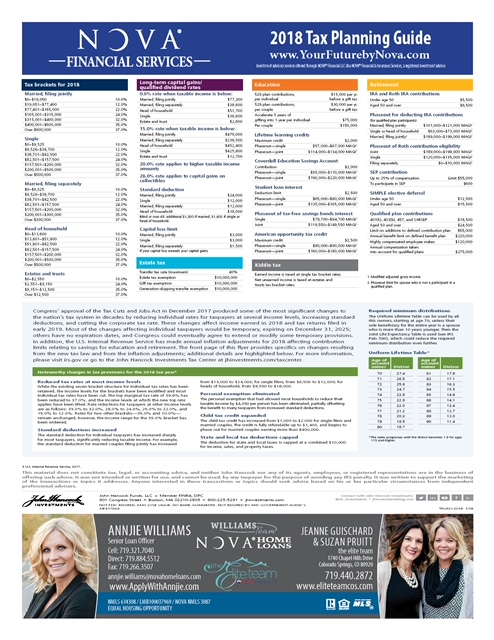 Tax Planning 2018