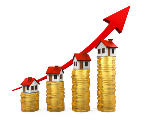 houses sitting on money prices going up