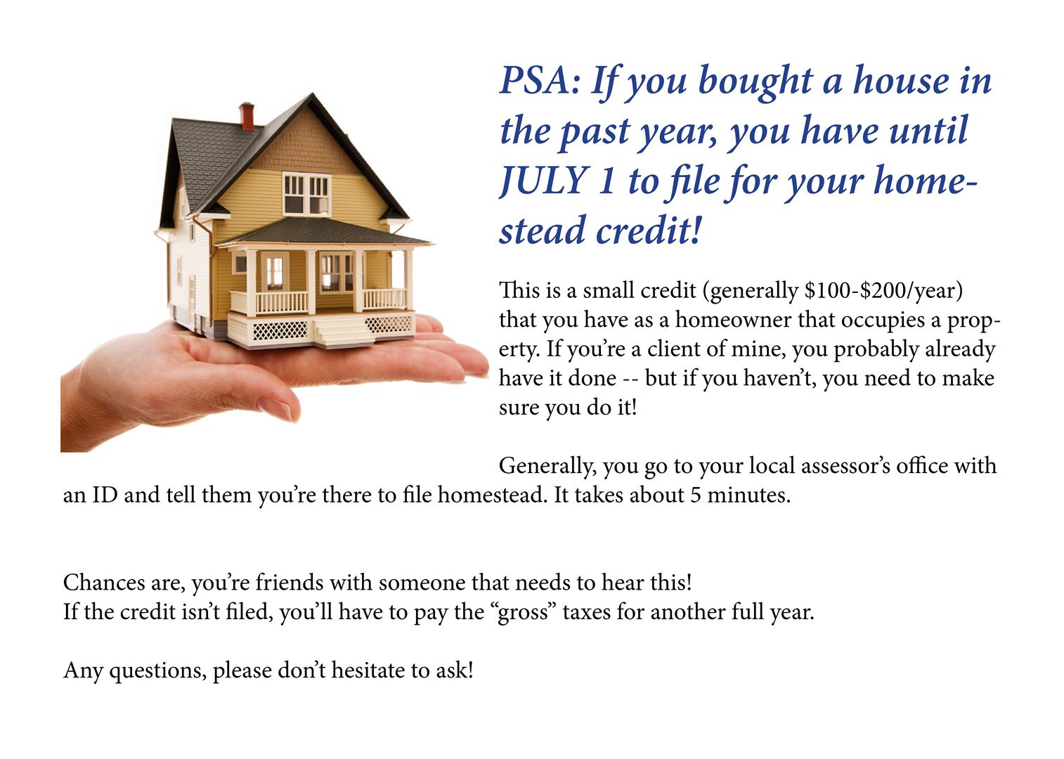 Homestead Tax Credit