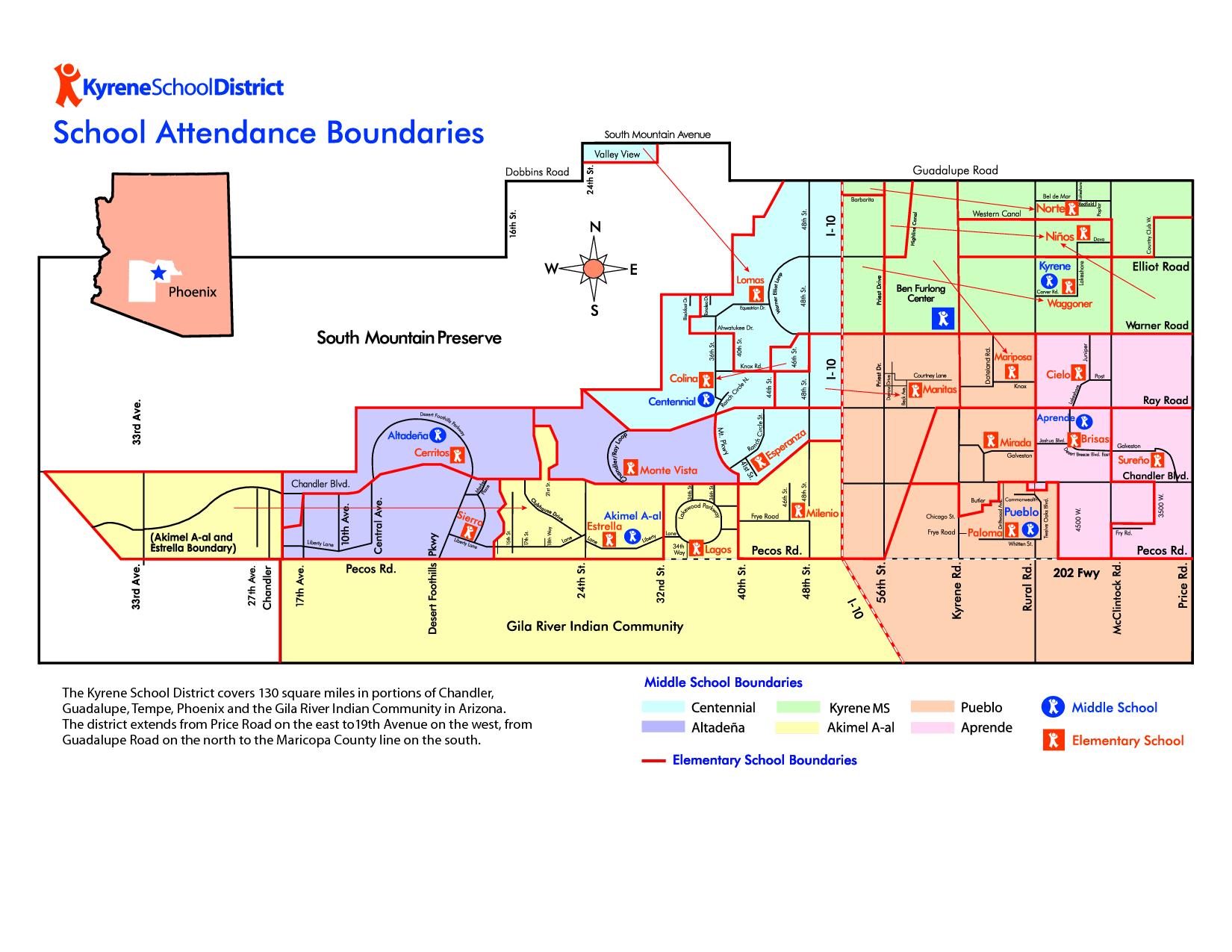Kyrene Elem Map