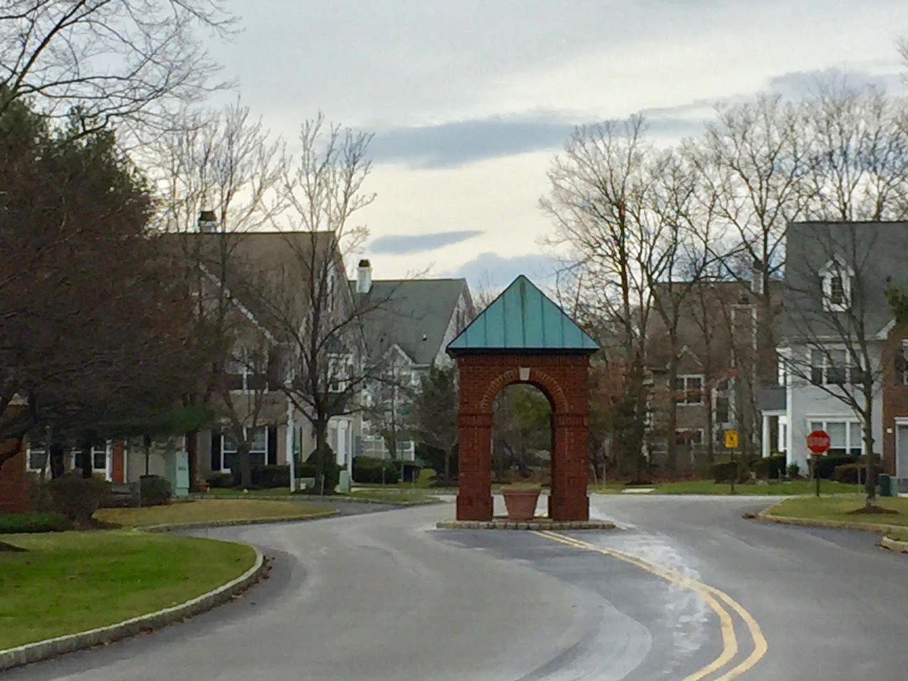 Entrance to Hidden Meadows, a pet friendly community.