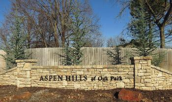 Aspen Hills subdivision in Overland Park, KS