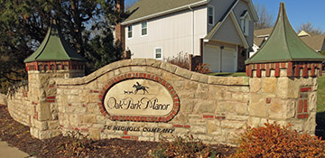 Oak Park Manor - a beautiful Overland Park subdivision