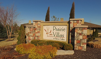 Villas for sale in the Prairie Villas at Falcon Valley in Lenexa