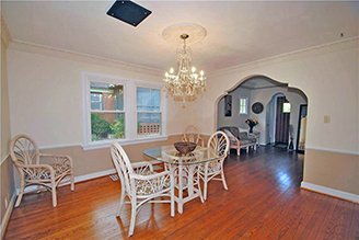 Proper, Formal Dining Rooms can be found in Brookside homes in KCMO