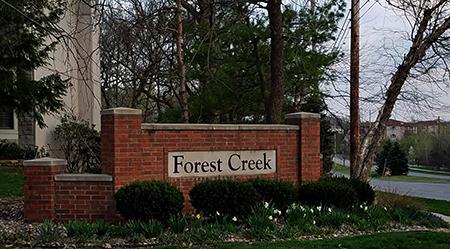 Forest Creek Estates Monument on Pflumm Road